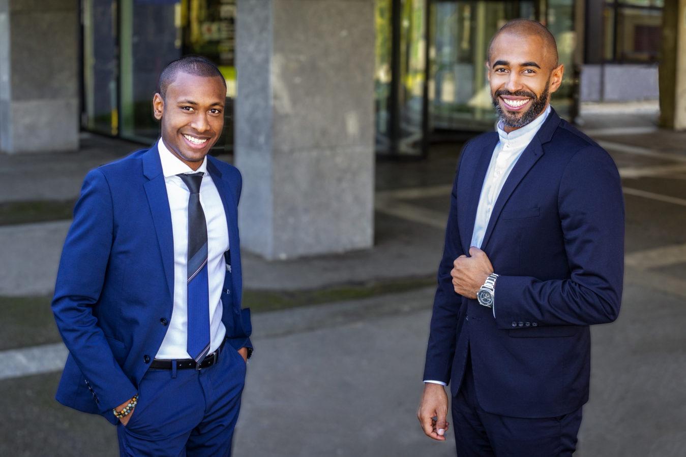 photo de killyam Baruncio et Gérald Lukuba en train de sourire